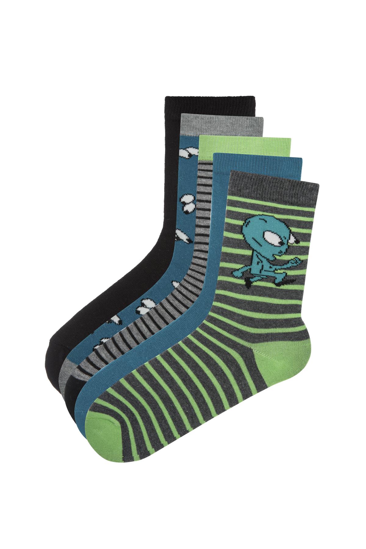 Boys Alien 5 in 1 Socks